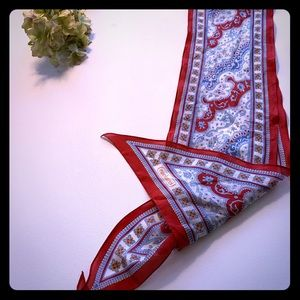 Cacharel Red & Blue Long silky scarf